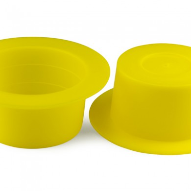 Yellow plastic plugs